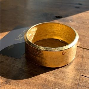 GIVENCHY Vintage Textured Thick Stamped Bangle